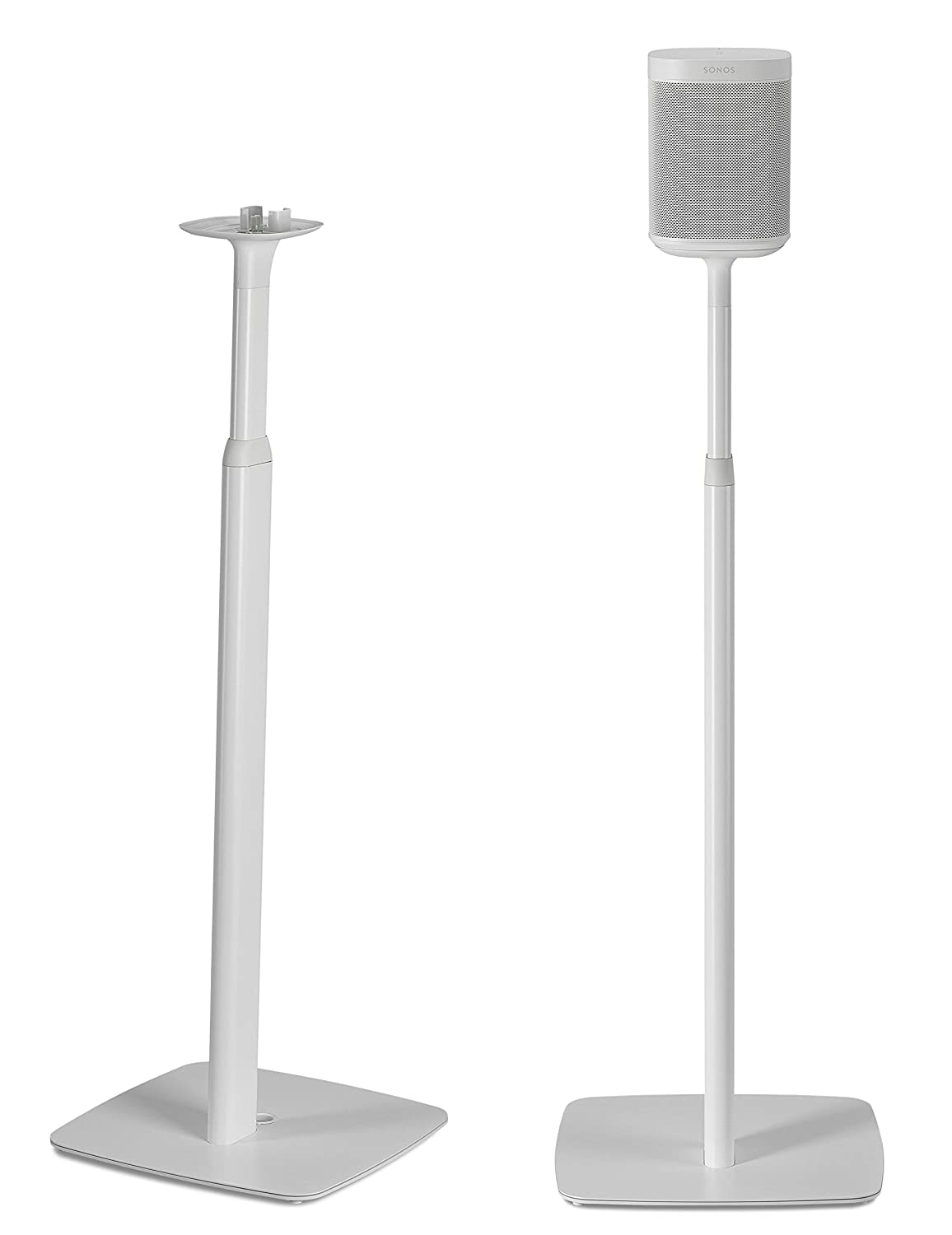 Flexson Adjustable Floor Stands for Sonos One and Sonos PLAY:1 (Pair) Black FLXS1AFS2021