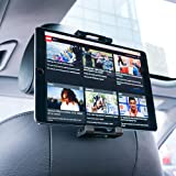 Car Headrest Tablet Mount, Lamicall Tablet Holder : Universal Stand Cradle Compatible with 4.4~13 inch Tablets such as new Pad 2018 Pro 9.7, 10.5, Air mini 2 3 4, Phone, Tab, Smartphones - Black