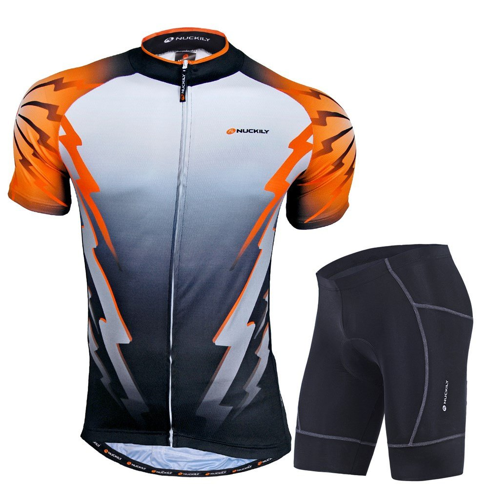 NUCKILY Men's Classic Design Quick Dry Cycling Jersey Suit For Summer LTD