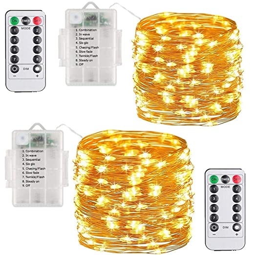 565f2608859 Cadena de Luces Guirnalda Luminosa Luces de Navidad 10 Metros 100 Mini LEDs  8 Modos de