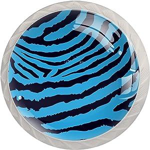 Idealiy Zebra Texture Door Drawer Pull Handle Furniture Decoration for Kitchen Cabinet Dressing Table