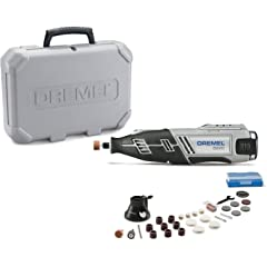 Product Image: Dremel 8220-1/28 12-Volt Max Cordless Rotary Tool Kit- Engraver, Sander, and Polisher- Perfect for Cutting, Wood Carving, Engraving, Polishing, and Detail Sanding- 1 Attachment & 28 Accessories