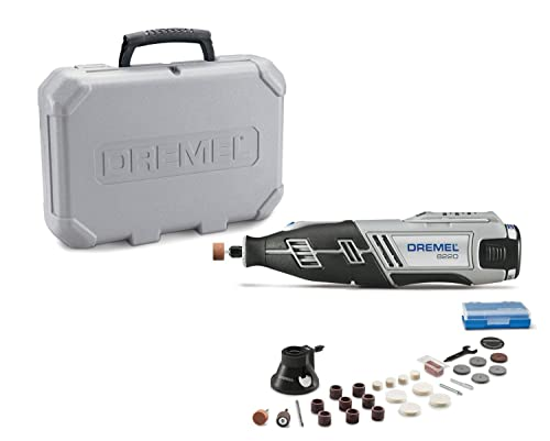 Dremel 8220-1 28 12-Volt Max Cordless Rotary Tool Kit- Engraver, Sander, and Polisher- Perfect for Cutting, Wood Carving, Engraving, Polishing, and Detail Sanding- 1 Attachment 28 Accessories