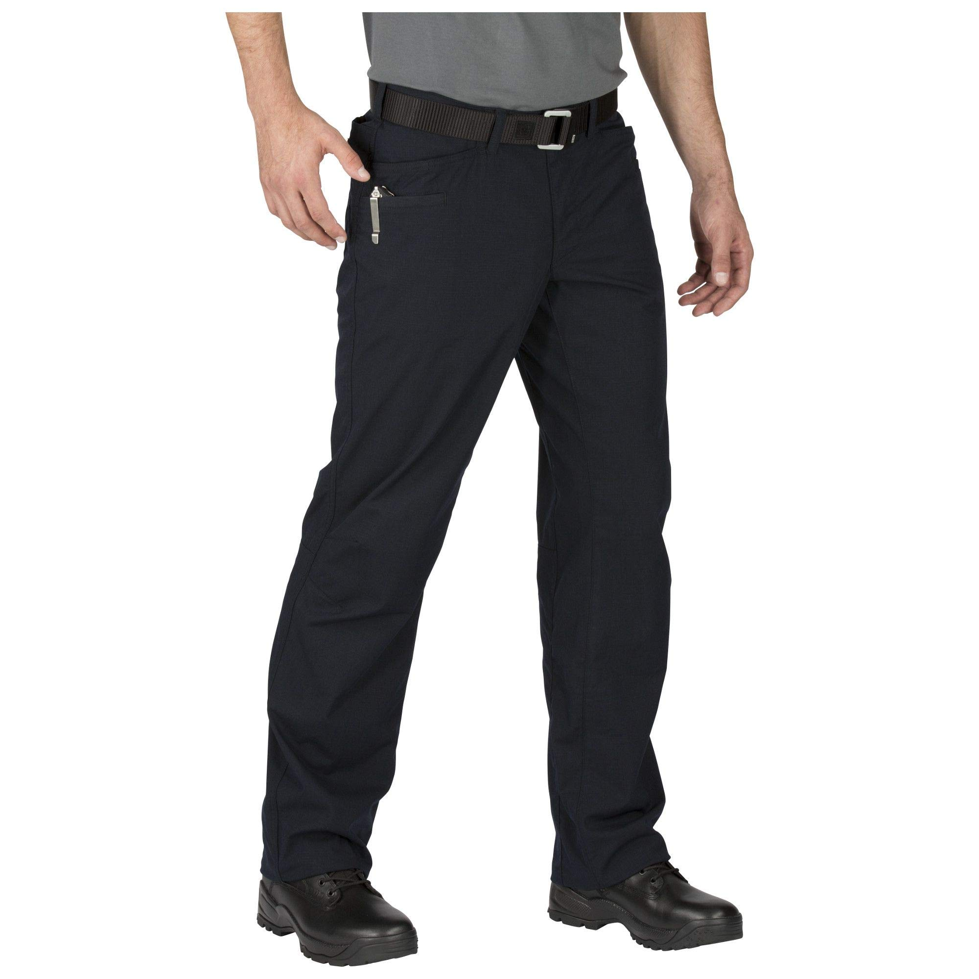 5.11 Tactical Men's Ridgeline Covert Work Pants, Teflon Finish, Poly-Cotton Ripstop Fabric, Dark Navy, Style 74411 by 5.11