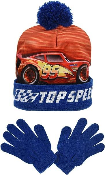 Disney Cars Set di Cappelli e Guanti del Ragazzi Cars