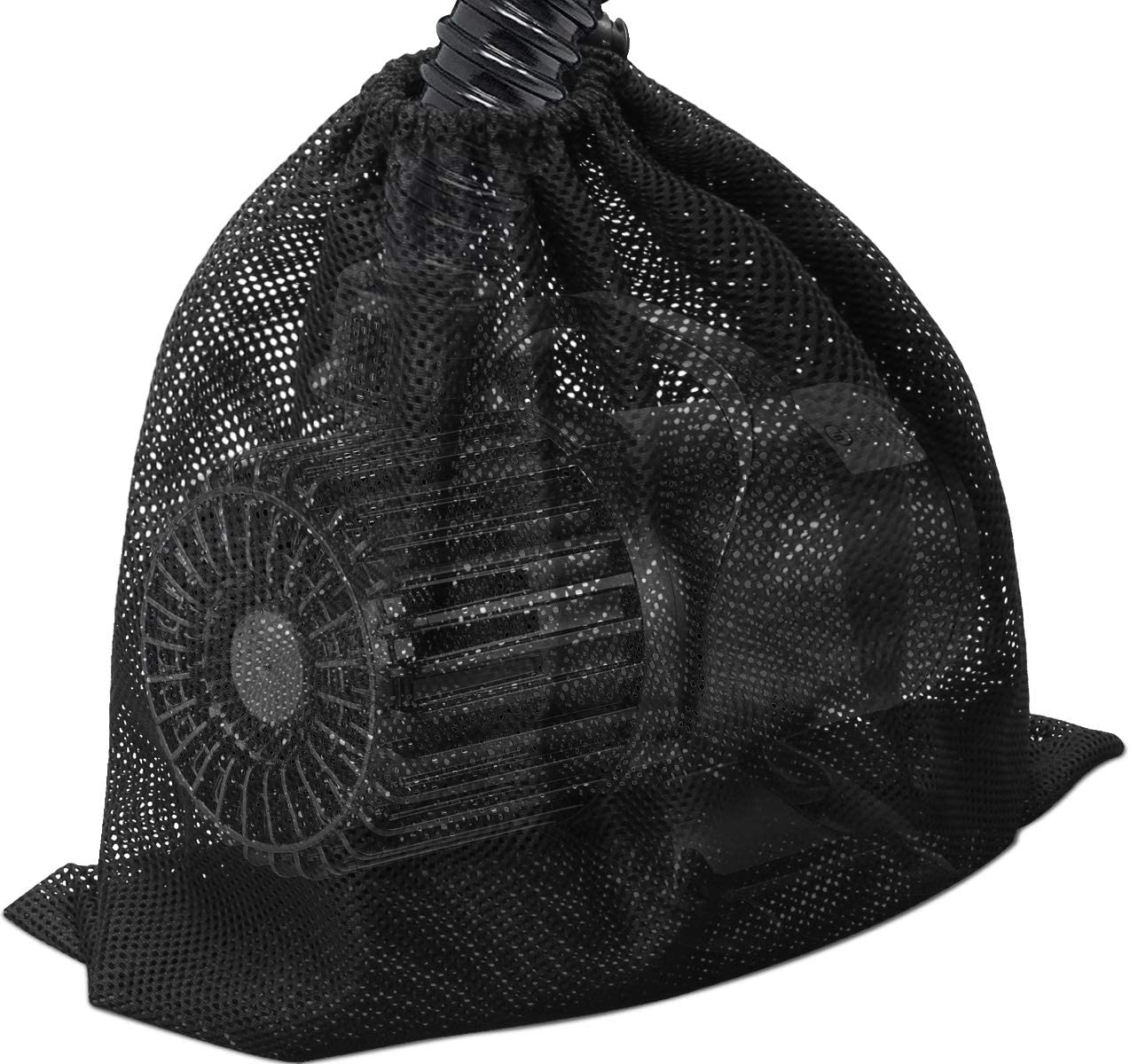 """Large Pump Barrier Bag, 17.3""""x 17.3"""" Pond Pump Filter Bag, Black Media Bag Large Pump Mesh Bag for Pond Biological Filters(Black) - By Coolrunner: Home Improvement"""