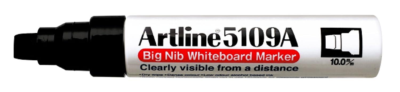 Confezione da 6 Nero Artline 5109/a grande pennino per lavagna bianca colore