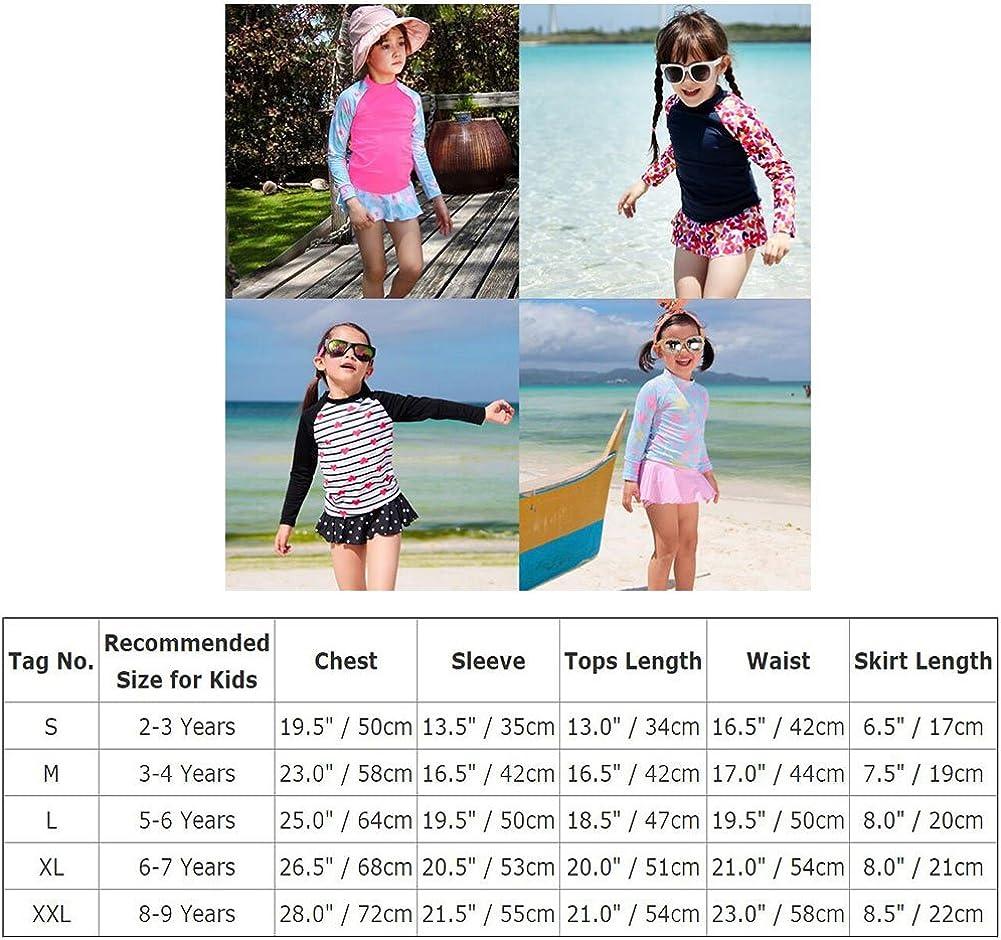Shorts Jupe Anti-UV Combinaison de Natation Shorty Plage Surf Plong/ée Partie de Piscine 2-9 Ans IBTOM CASTLE Maillots de Bain 2 Pieces pour Enfants Fille Top Chemise