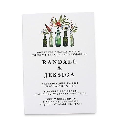 Amazon Casual Wedding Reception Invitation Cards By