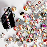 New Nail Art Rhinestone Ab White Crystal 1440pcs/bag Glue on Non Hotfix Flatback Rhinestone Decorations for Nails(SS12)