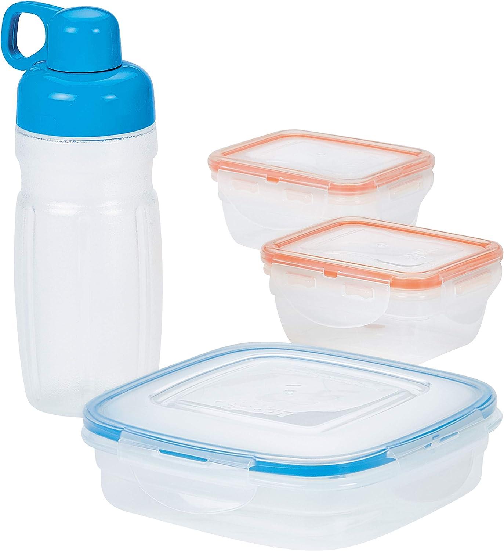 LOCK & LOCK Easy Essentials Food Storage Container Set / Food Storage Bin Set - 8 Piece, Clear