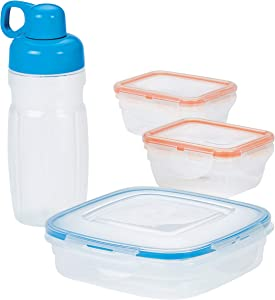 LOCK & LOCK Easy Essentials Food Storage Container Set / Food Storage Bin Set - 8 Piece, Clear