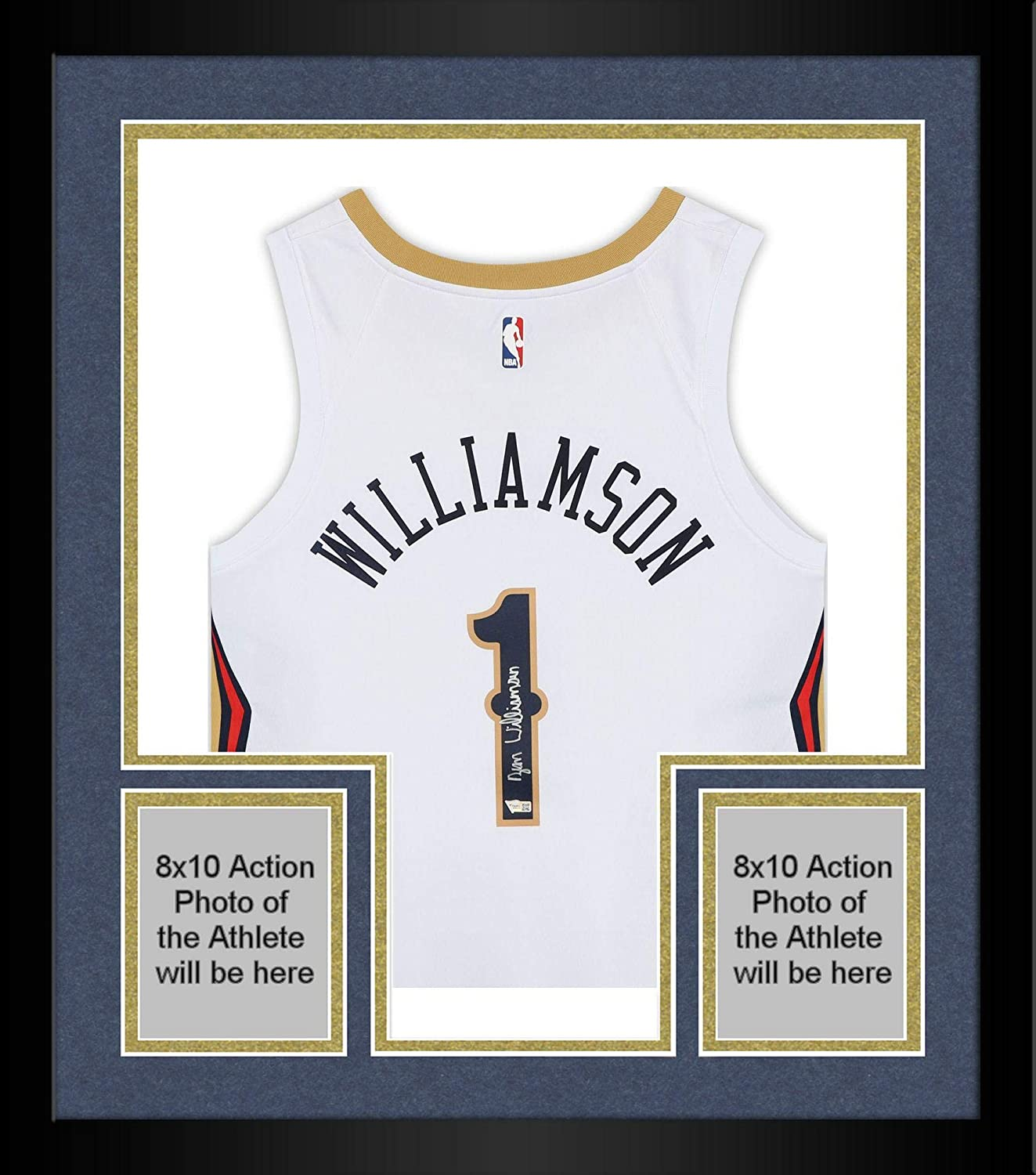 Framed Zion Williamson New Orleans Pelicans Autographed White Swingman Jersey - Autographed NBA Jerseys