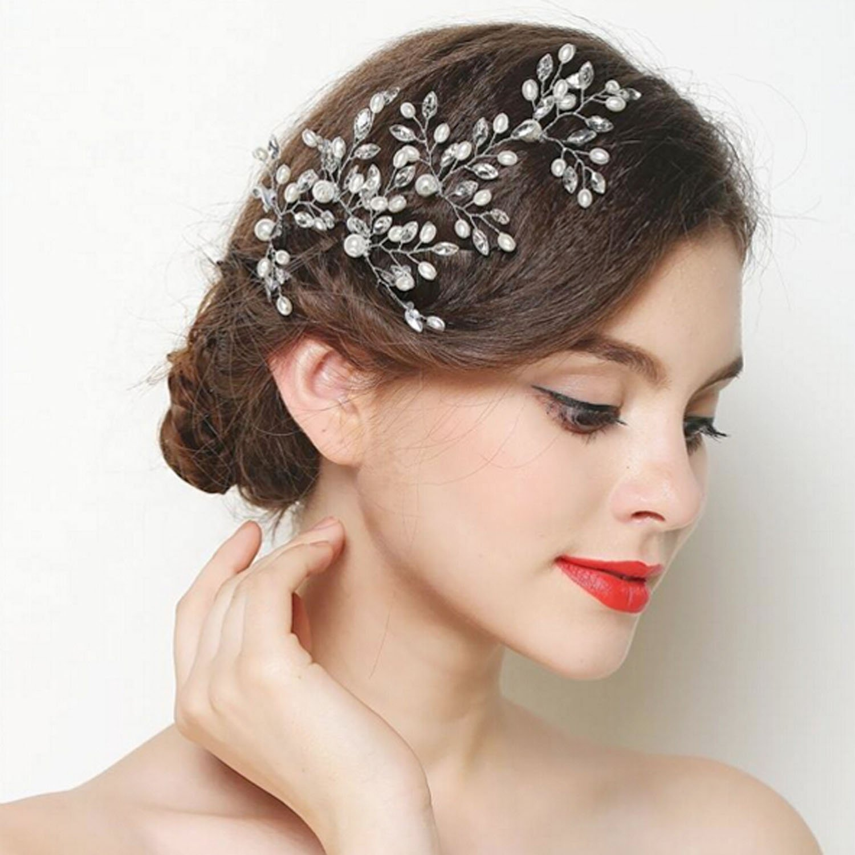 missgrace bridal crystal and beads headband wedding