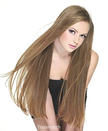 Amazon Com Tressmatch 20 22 Thick To Ends Remy Human Hair Clip