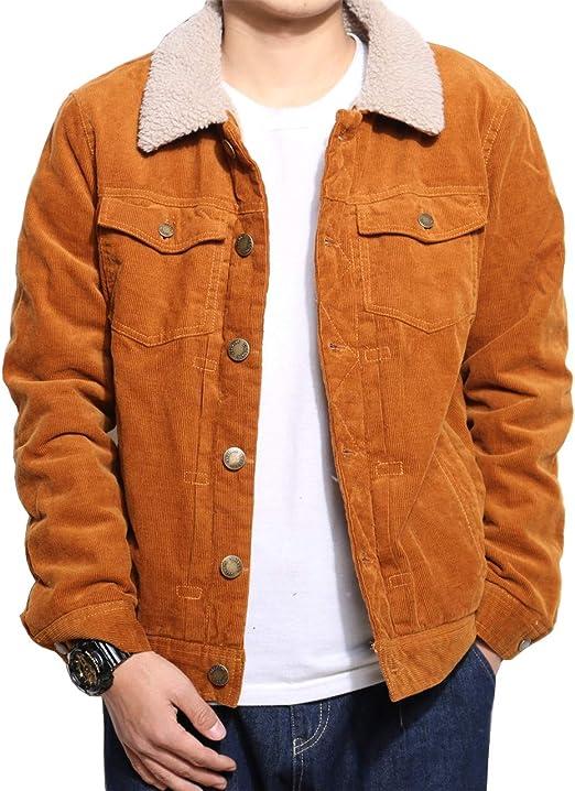 メンズ ボアジャケット コート 裏ボア デニム ランチコート コーデュロイ ブルゾン 裏起毛 中綿入り 秋冬 ボタン付き