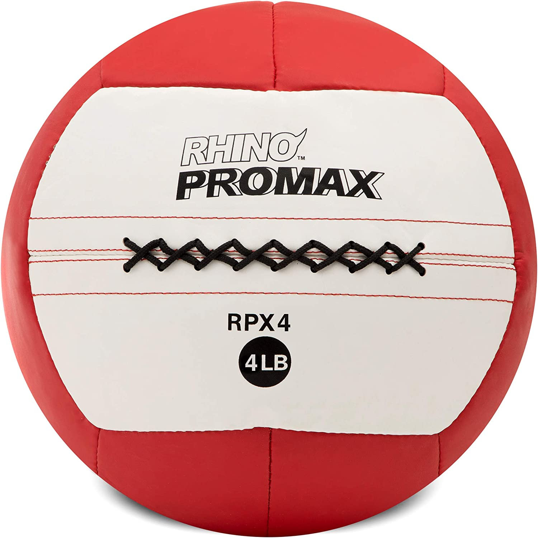Champion Sports Rhino Promax Slam Balls, Soft Shell with Non-Slip Grip - Medicine Wall Ball for Slamming, Bouncing, Throwing - Exercise Ball Set for Crossfit, TRX, Plyometrics, Cross Training