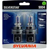 SYLVANIA 9004 SilverStar High Performance Halogen Headlight Bulb, (Contains 2 Bulbs), White (9004ST.BP2)