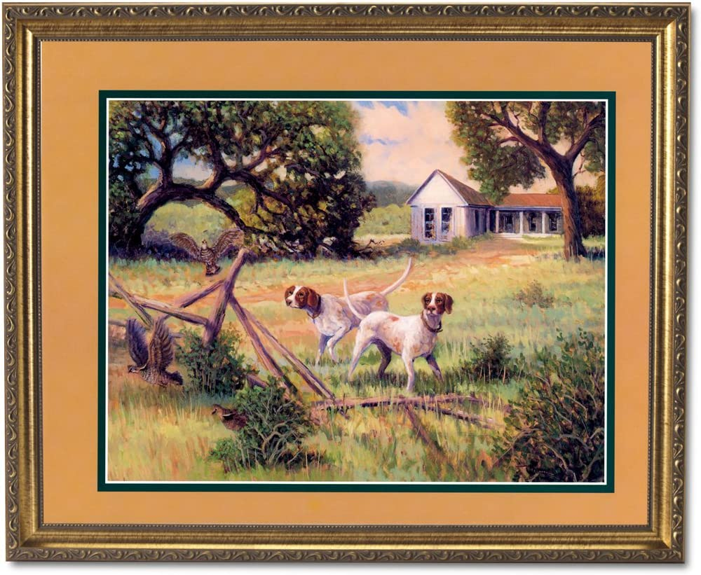 Dogs Hunting Quail Birds #2 Animal Cabin Lodge Wall Picture 8x10 Art Print