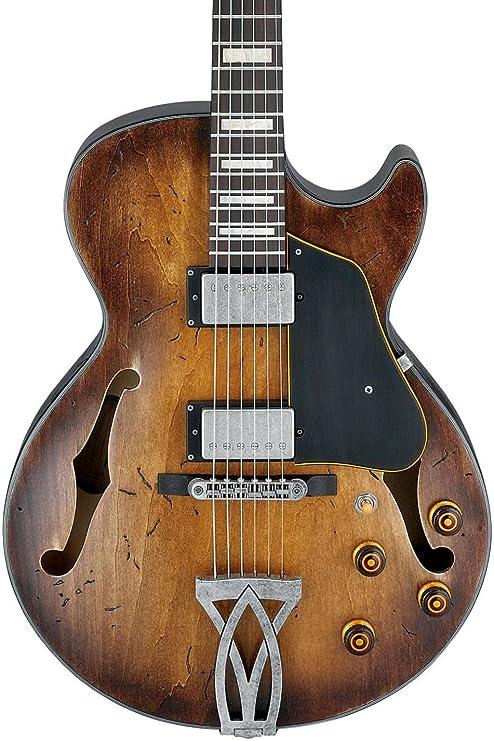 Ibanez Artcore Vintage Series agv10 a hollowbody Guitarra Eléctrica Bajo de ráfaga de tabaco Gloss