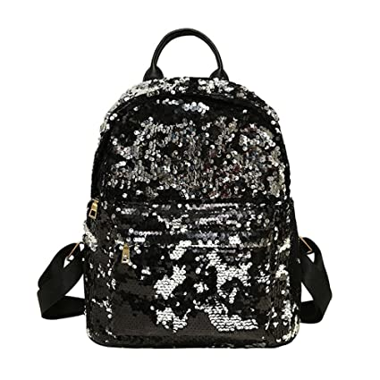Amazon Com 2018 New Paymenow Women Girls Sequins Backpack Purse