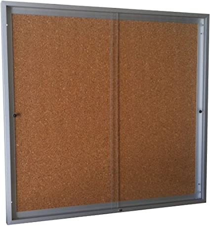 Vitrina de anuncios para 6 tamaños A4 de puertas correderas fondo ...