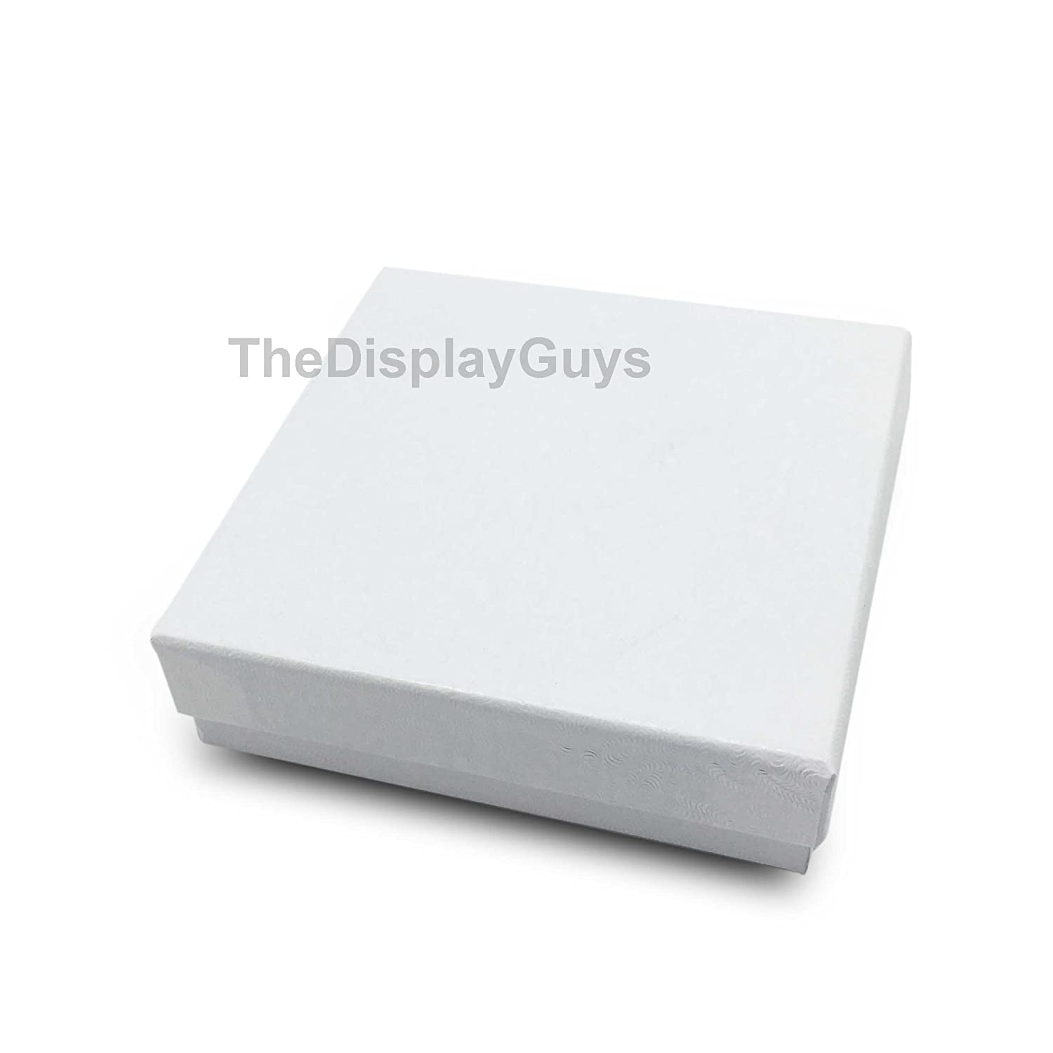 The Display Guys Pack of 25 Cotton Filled Cardboard Paper White Jewelry Box Gift Case 5 pcs Each of #11//#21//#32//#33//#82