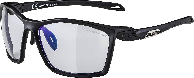 Alpina Twist Five VLM+ Sportbrille, schwarz matt, one Größe