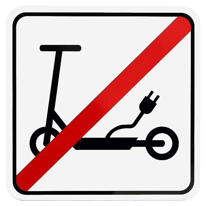 Cartel magnético para Patinete eléctrico Prohibido con ...