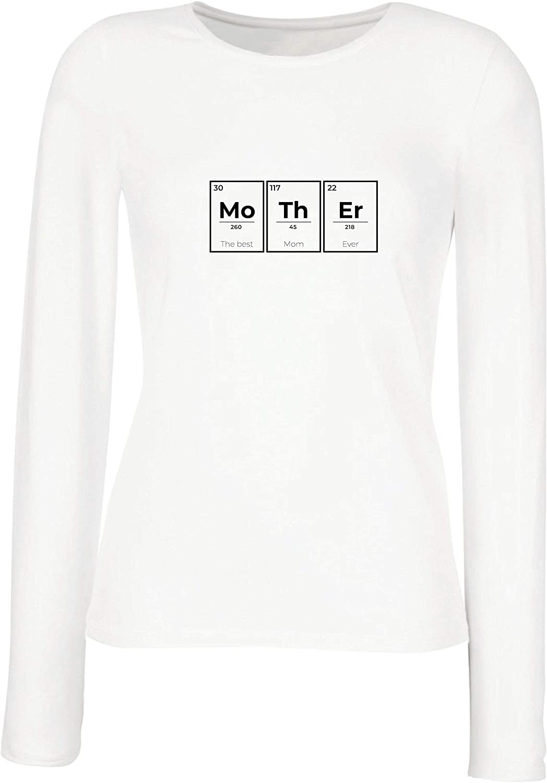 lepni.me Camisetas de Manga Larga para Mujer Químico Divertido - la Mejor mamá Nunca. Química del día de la Madre: Amazon.es: Ropa y accesorios