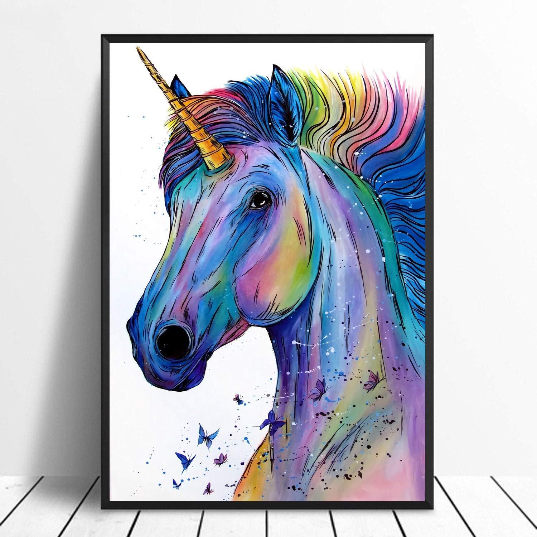 Amazon Com Watercolor Unicorn Print Unicorn Poster Unicorn