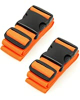 BlueCosto Luggage Straps Suitcase Belts Travel Bag Accessories 1/2/4 Pack