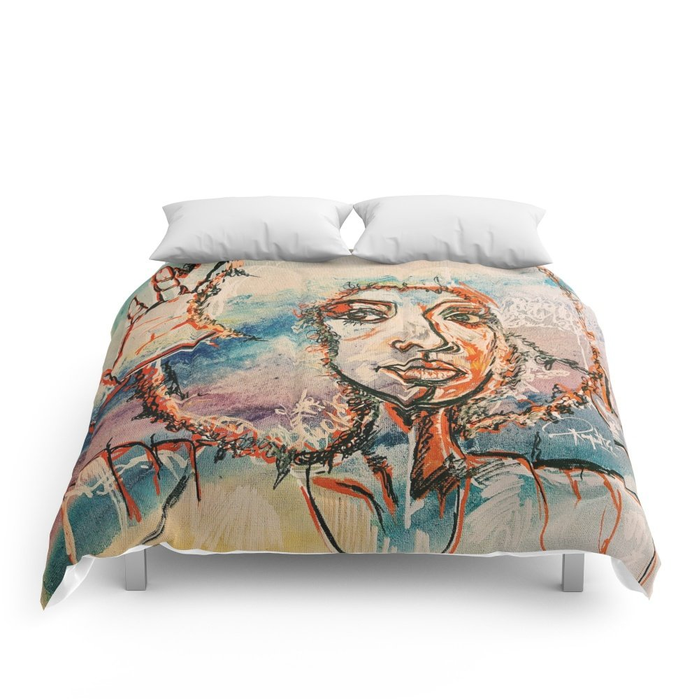 Society6 Black Girl Magic Comforters Queen: 88'' x 88''