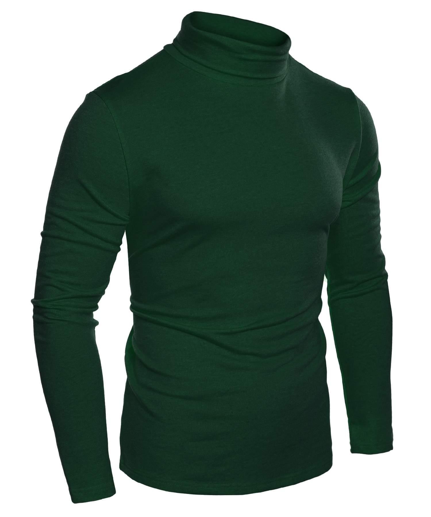 Bifast Men's Shirt Long Sleeve T-Shirt Lightweight Turtleneck Slim Fit Tops