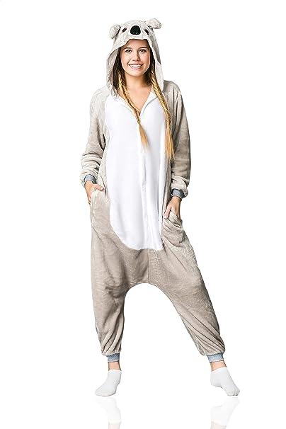 5c7d61e40011 Nothing But Love Adult Koala Onesie Pajamas Kigurumi Animal Cosplay Costume  Onsie Thick Fleece Pjs (