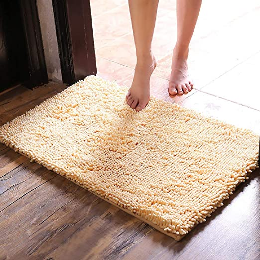 Soft and Cozy Machine-Washable Thick Modern for Bathroom Non-Slip Floor Yimobra Original Luxury Shaggy Bath Mat Large Size 24 X 17 Inches Super Absorbent Water