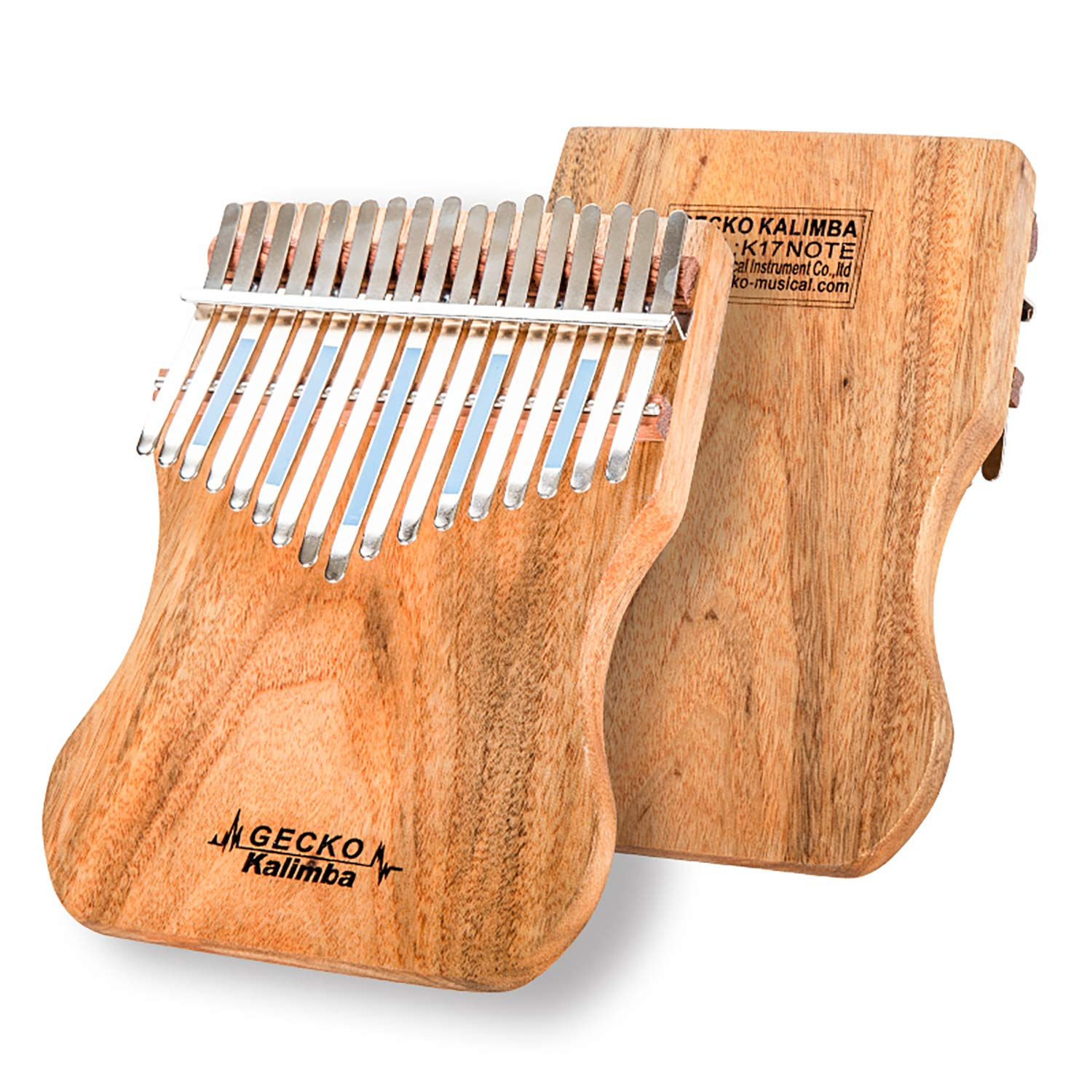 GECKO Kalimba 17 Keys Full solid Camphor wood,with Instruction and Tune Hammer, Portable Thumb Piano Mbira Sanza K17CAP by Gecko (Image #2)