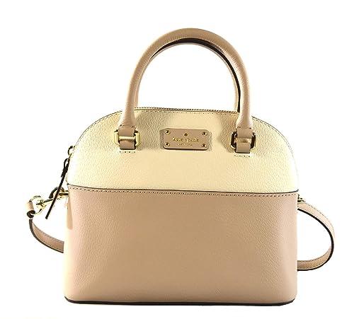 Kate Spade Grove Street Mini Carli Leather Crossbody Bag Purse Satchel  Shoulder Bag (Cream Cement) (Cream Cement)  Amazon.ca  Shoes   Handbags bf9b4d3548062