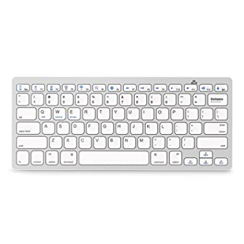 636ef310e33 Jelly Comb Universal Bluetooth Keyboard Ultra Slim for All Windows Android  iOS PC Tablet Smartphone (Apple ...