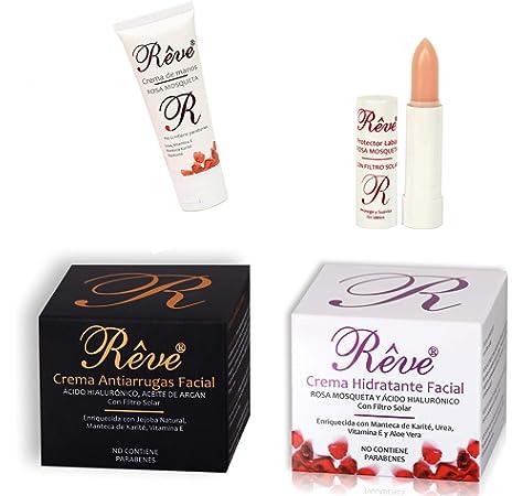 REVE pack Crema Hidratante Facial Bio + Óleo Sérum Bio - Hombre y Mujer, Día y Noche - Combinados consigue un efecto booster - apto para veganos y pieles sensibles.: Amazon.es: Belleza