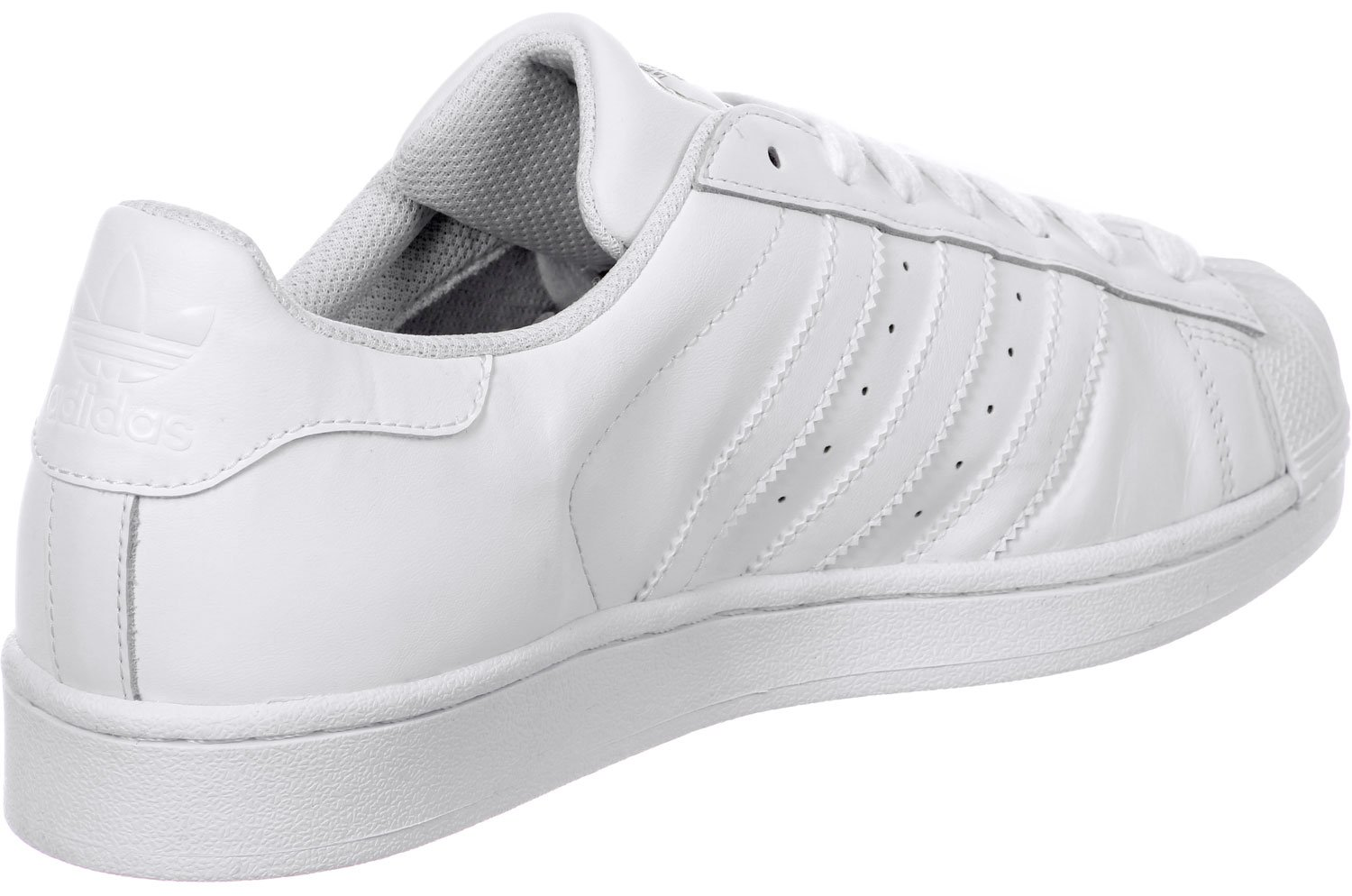 adidas Mens Superstar Foundation White Synthetic Trainers 9 US
