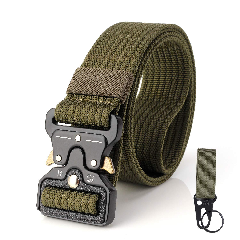 S.Lux Cintur/ón t/áctico Ajustable de Nailon Militar con Hebilla de Metal de liberaci/ón r/ápida