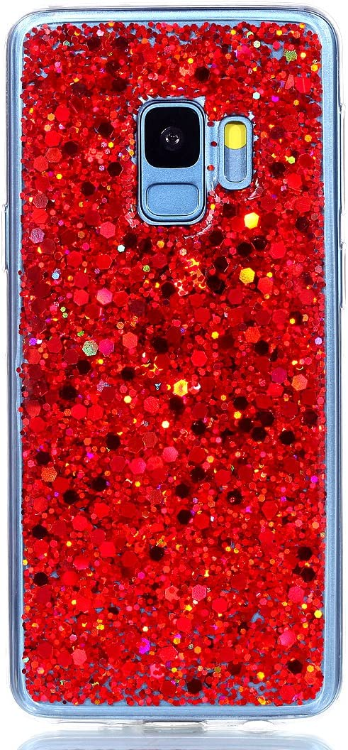 S9, Gold for Samsung Galaxy S9 S9 Plus Case Luxury Bling Glitter Sparkle Shiny Transparent Flexible Soft Rubber TPU Protective Cover