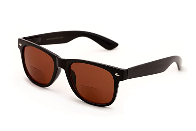 d3295e09fe Image Unavailable. Image not available for. Color  Classic Bifocal Outdoor  Reading Sunglasses - Comfortable Stylish Simple Readers Rx Magnification ...