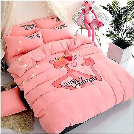 Peachy Baby Juego de sábanas Pantera Rosa para Cama de Matrimonio ...