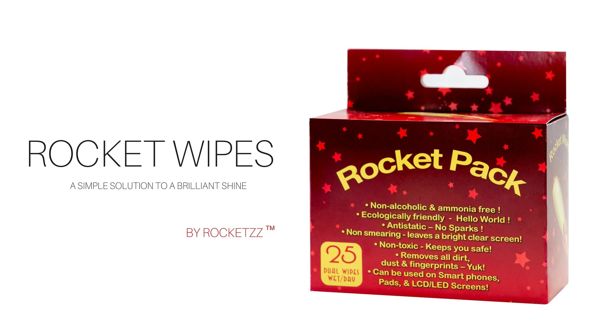 Rocket Wipes Screen Cleaning Wipes