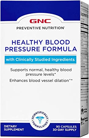 GNC Preventive Nutrition Healthy Blood Pressure Formula, 90 Capsules, Supports Normal, Healthy Blood Pressure Levels