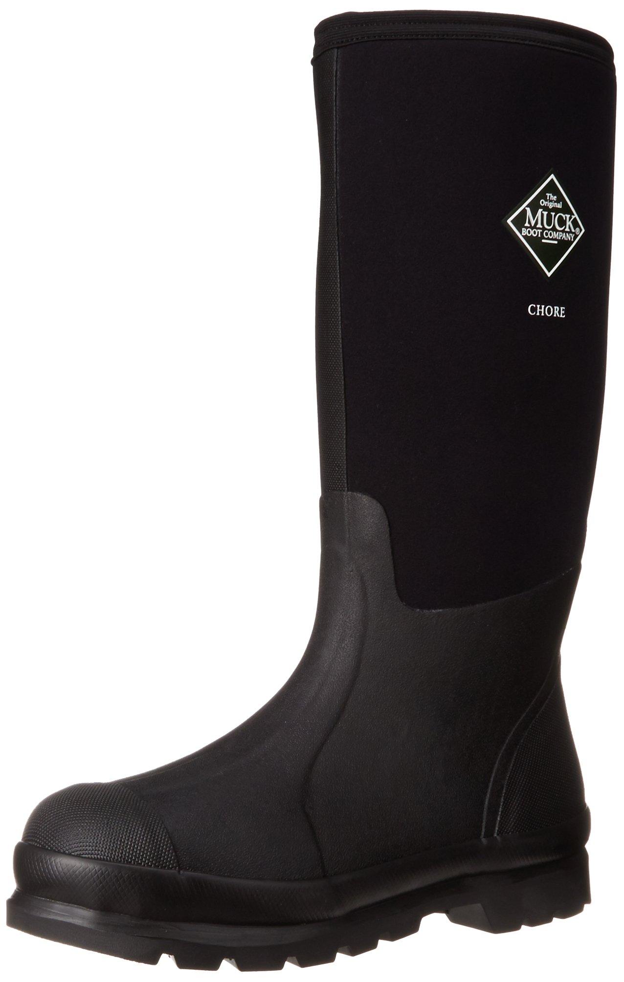 The Original MuckBoots Adult Chore Hi-Cut Boot,Black,Men's 8 M US / Women's 9 M US