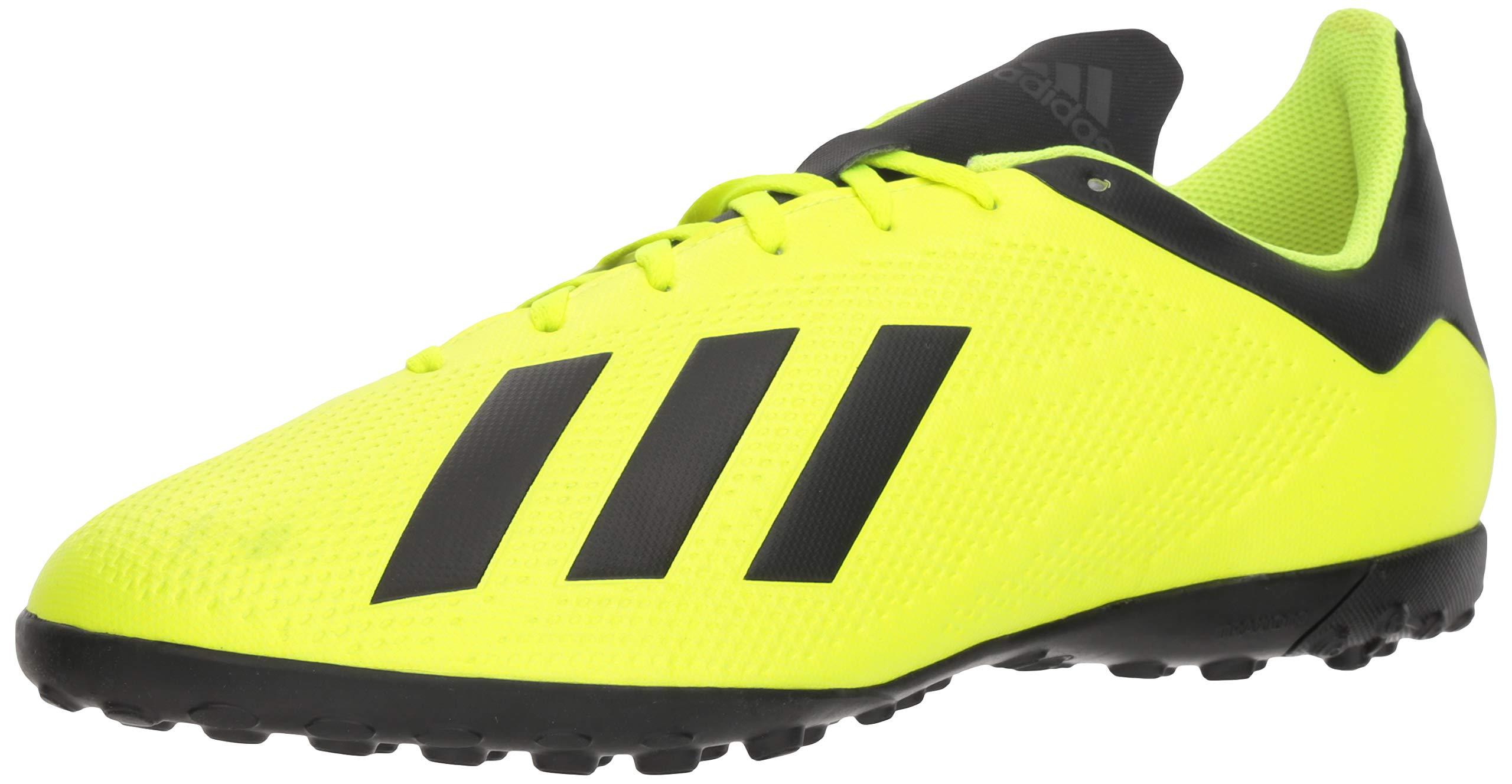 adidas Men's X Tango 18.4 Turf Soccer Shoe, Solar Yellow/Black/White, 7.5 M US