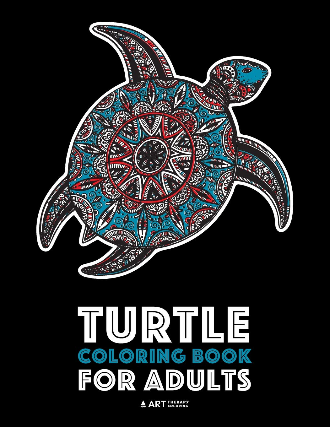 Turtle Coloring Book For Adults: Stress Relieving Adult ...